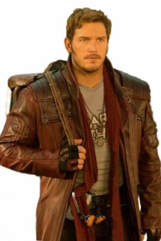 Chris Pratt Galaxy Brown Coat