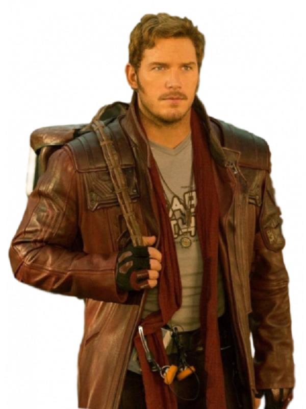 Chris Pratt Galaxy Brown Coat