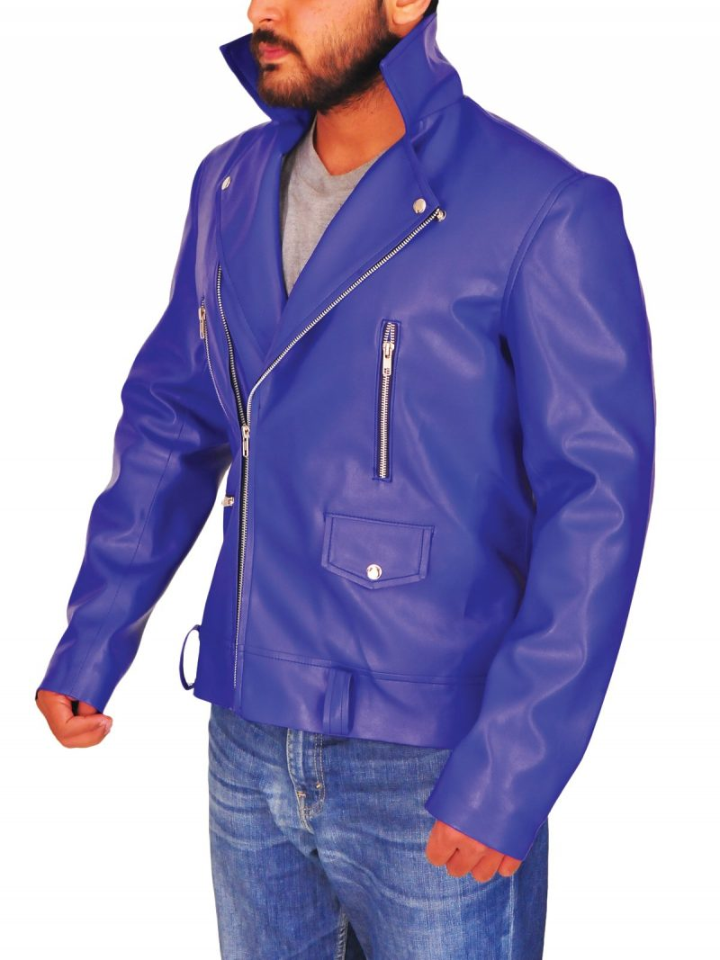 WWE Finn Bálor Leather Blue Jacket