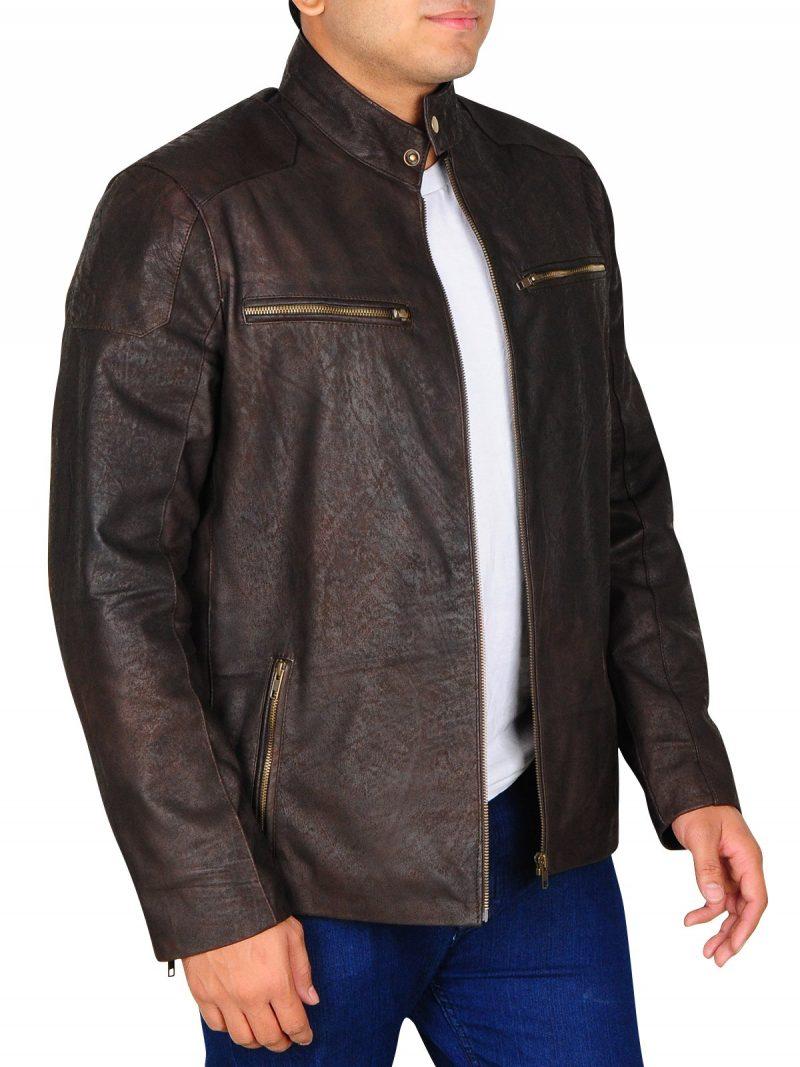 Civil War Chris Evans Brown Leather Jacket