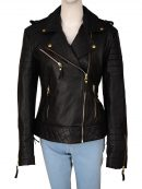 Kay Michaels Brando Biker Leather Jacket