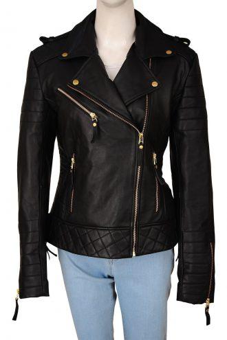 Kay Michaels Brando Biker Leather Jacket