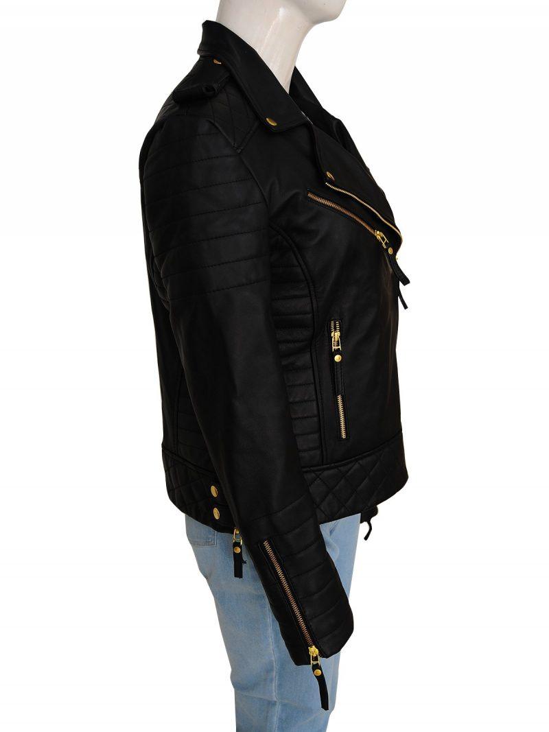 Kay Michaels Biker Leather Jacket