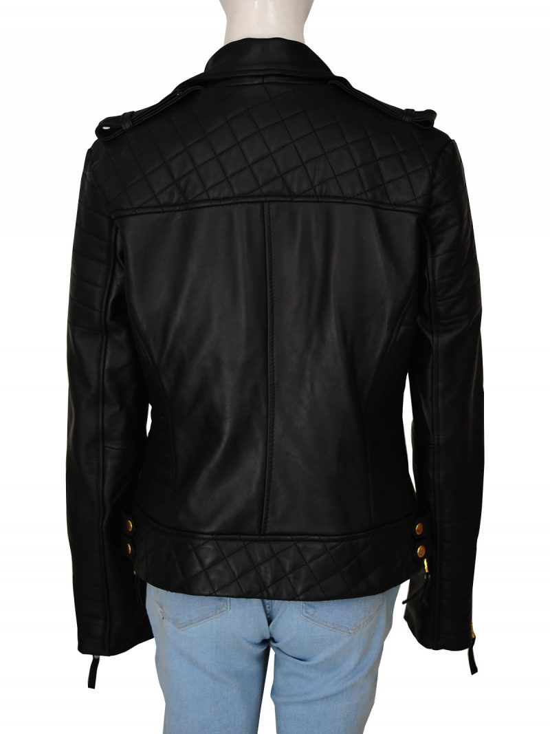 Kay Michaels Biker Leather Jacket For Women