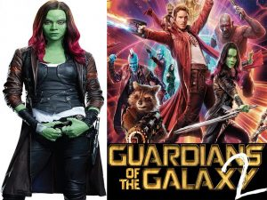 Zoe Saldana Galaxy Vol 2 Costumes