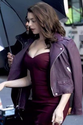 Oceans 8 Anne Hathaway Leather Jacket