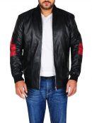 Mens Bomber Leather Jacket at Top Celebs Jackets