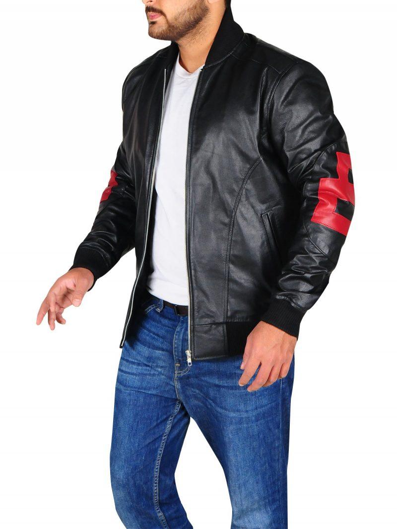 Mens Stylish 8 Ball Leather Jacket