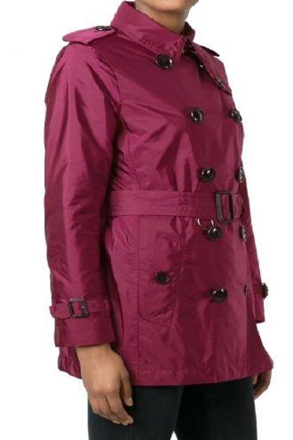 Eiza Gonzalez Maroon Coat