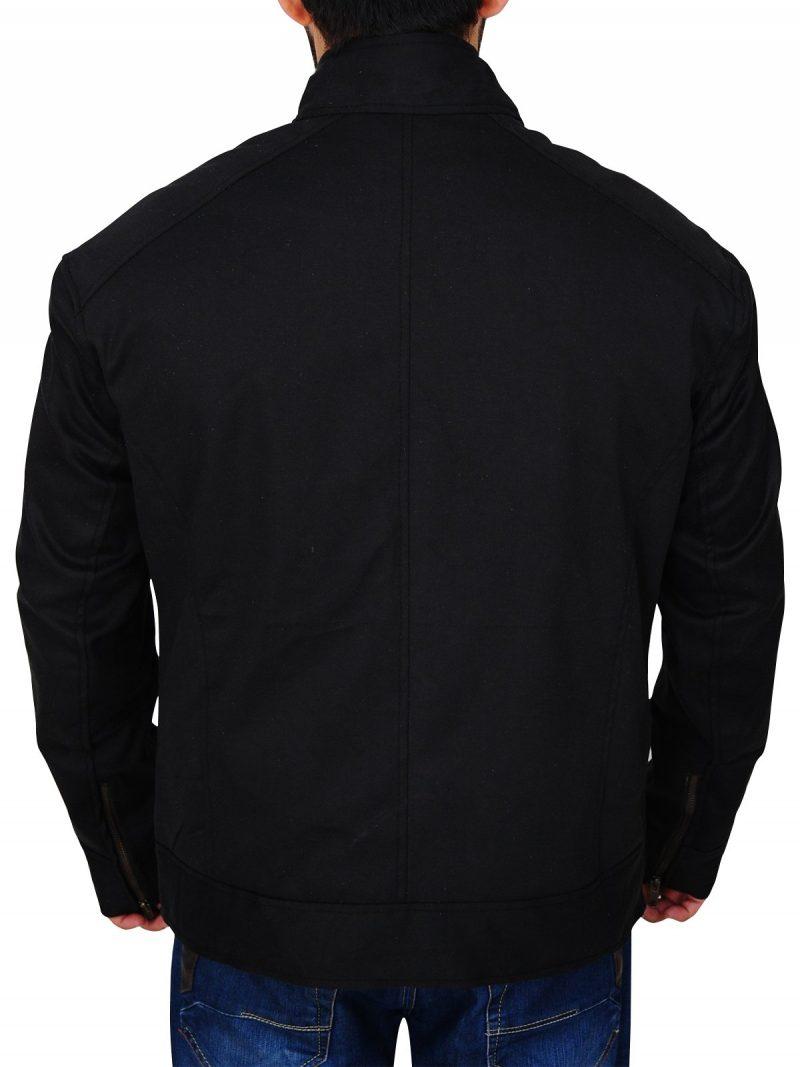 Black Cotton Mark Wahlberg Mile 22 Jacket
