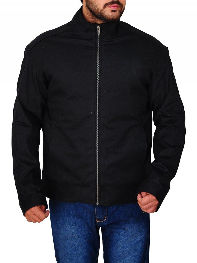 Movie Mile 22 Mark Wahlberg Stylish Black Jacket