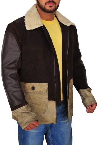 Maze Runner Thomas Brodie-Sangster Fur Leather Jacket