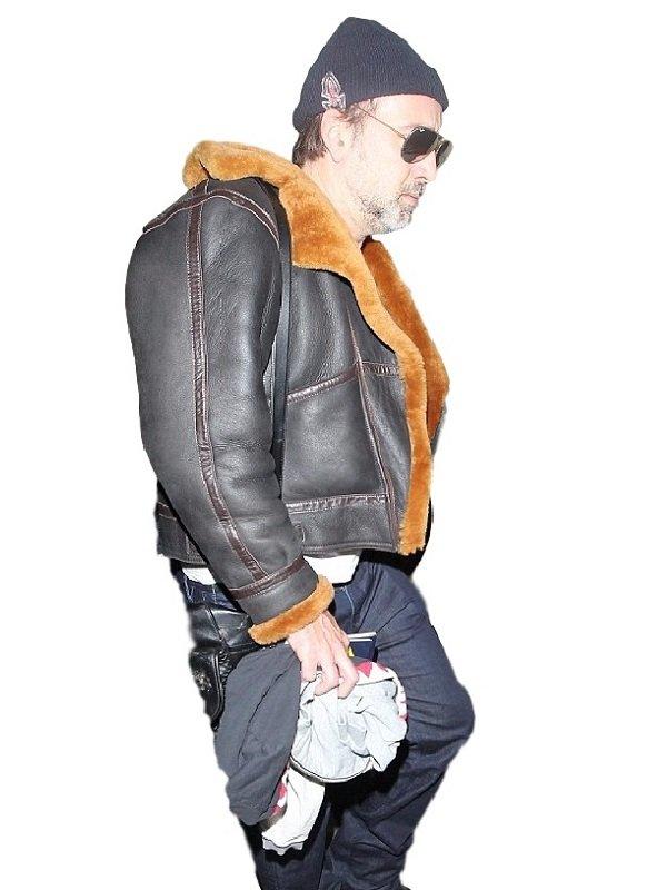 Nicolas Cage Stylish Leather Jacket