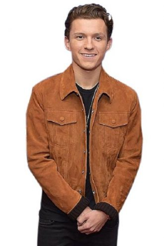 Tom Holland Stylish Brown Jacket