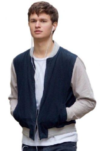 Baby Driver Ansel Elgort Stylish Varsity Jacket