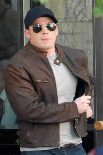 Steve Rogers Civil War Brown Jacket