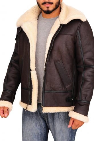 B3 Aviator Flying Sheepskin Leather Jacket