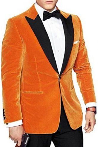 Kingsman 2 Eggsy Orange Tuxedo Suit