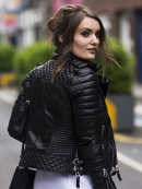SlimFit Diamond Quilted Motorcycle Leather Jacket