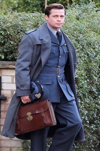 Allied Movie Brad Pitt Coat