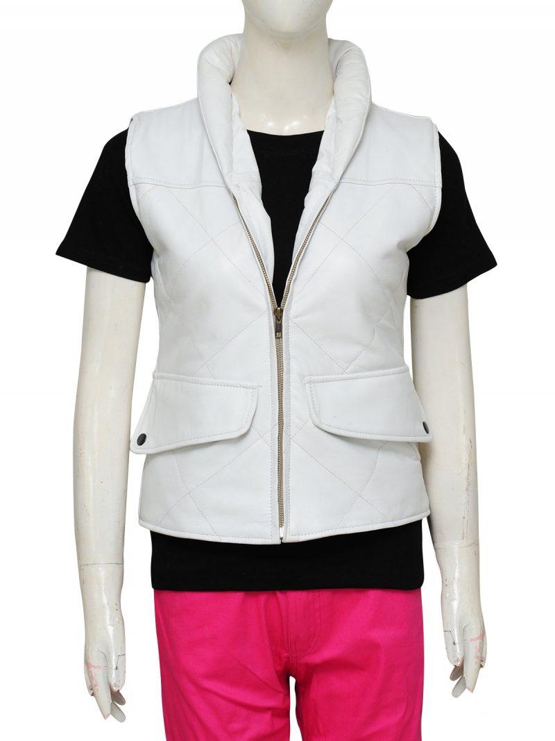 Star Wars Princess Leia White Leather Vest
