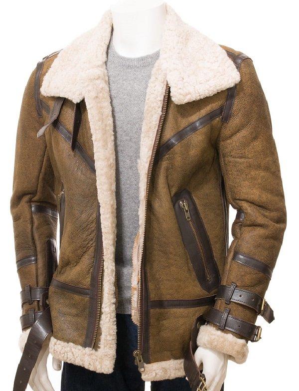 Men Sheepskin Shearling Leather Jacket