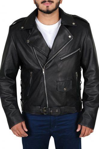 Mens Brando Biker Black Jacket