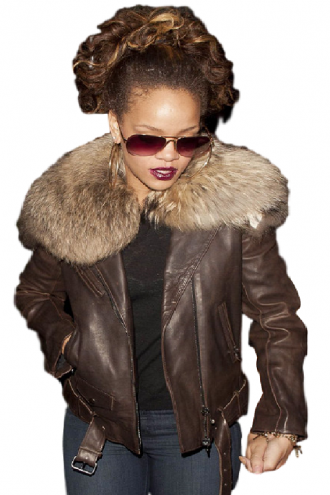 Rihanna Raccoon Jacket