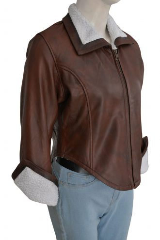 Overwatch Tracer Leather Jacket With Fur Design