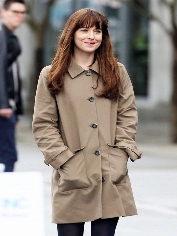 Fifty Shades Dakota Johnson Darker Long Coat