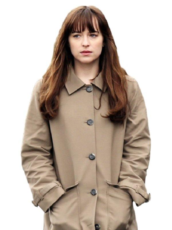 Dakota Johnson Fifty Shades Darker Elegant Beige Coat