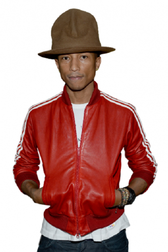 Rapper Pharrell Williams Varsity Style Jacket