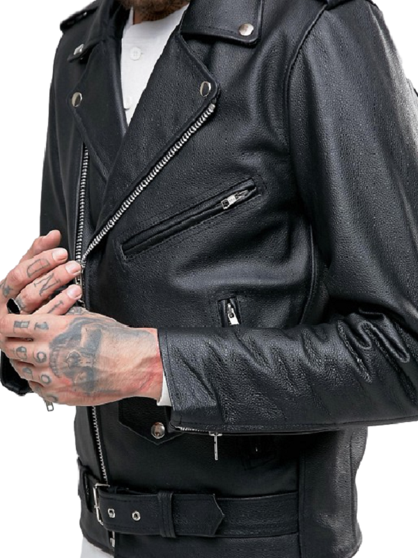 San Jose Bull Logo Leather Jacket
