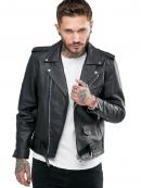 Men San Jose Brando Biker Leather Jacket