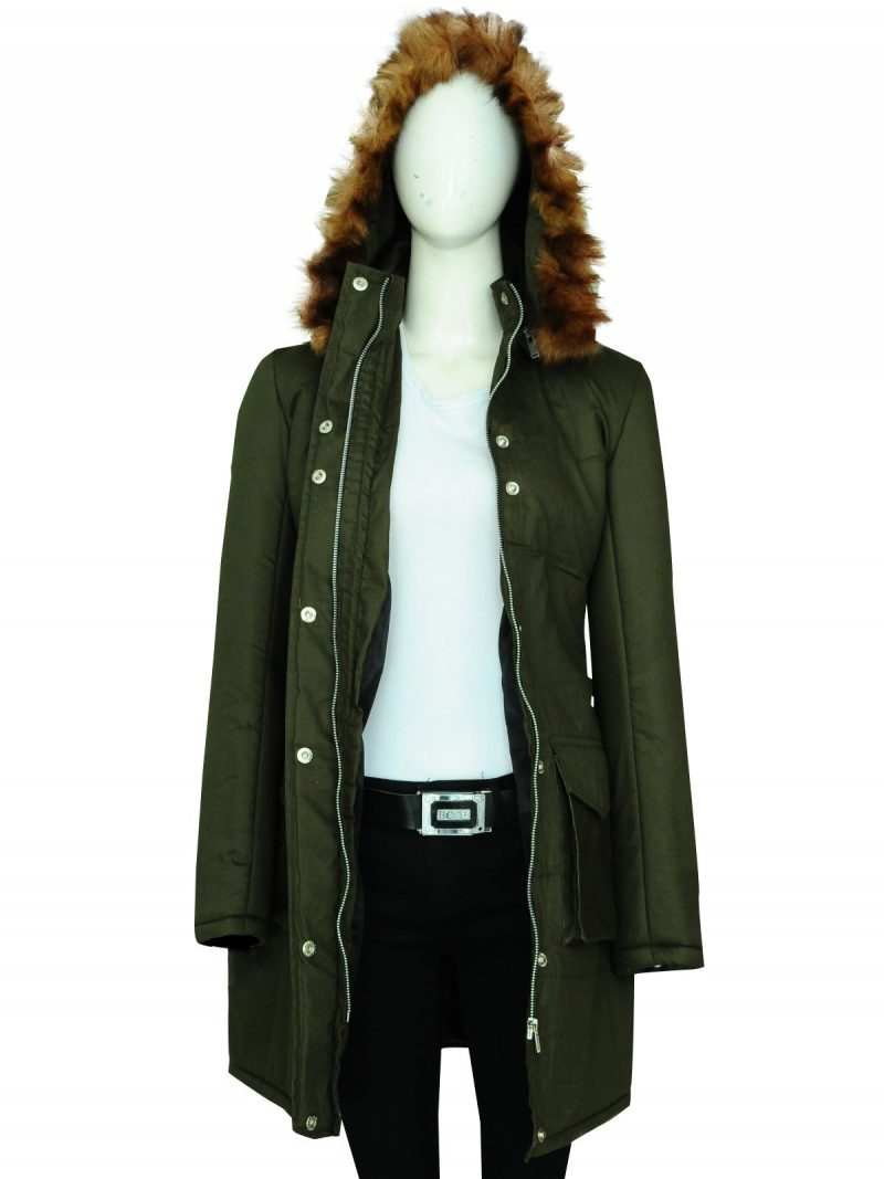 Anna Friel TV Series Marcella Hooded Coat