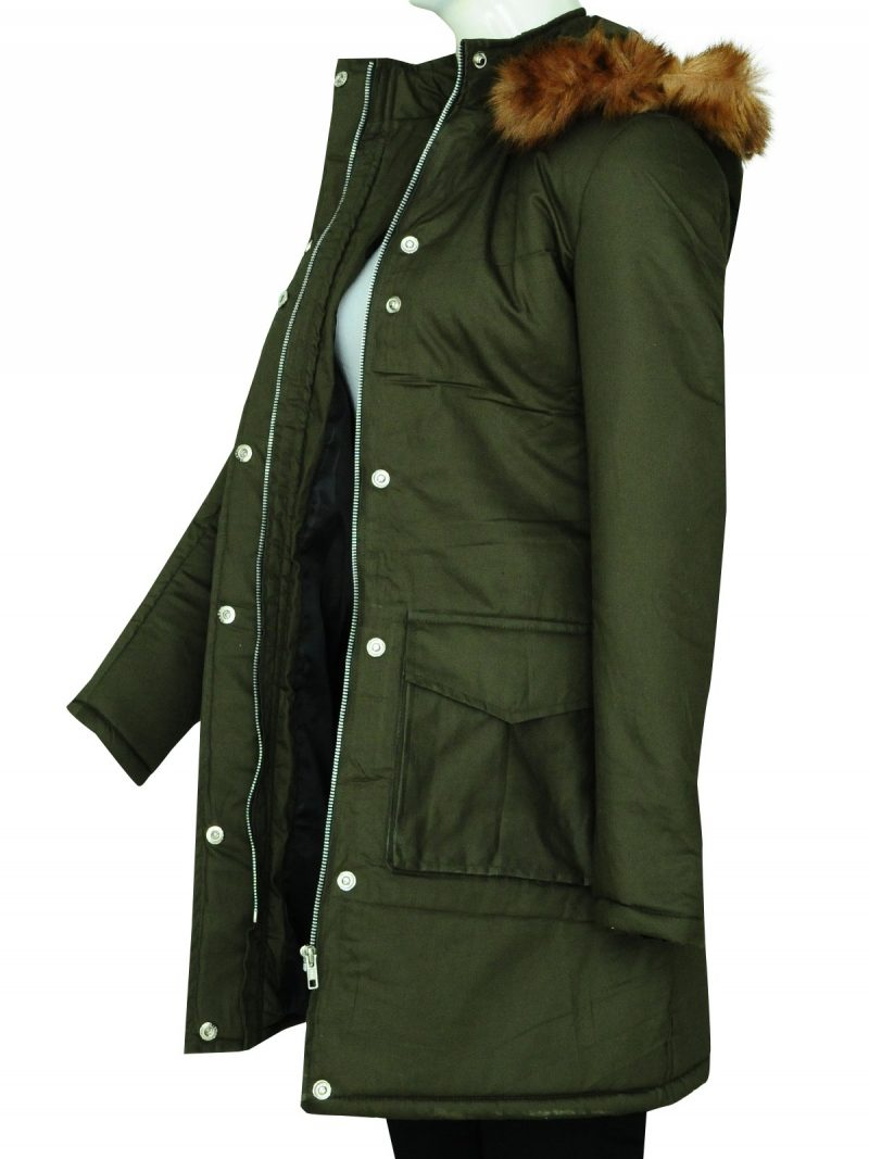 Anna Friel TV Series Marcella Hoodie Coat