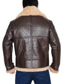 B3 RAF Shearling Bomber Leather Jacket