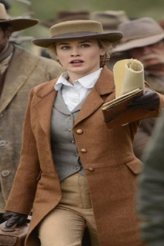 Lily Bell Hell on Wheels Stylish Brown Coat