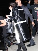 American Singer Selena Gomez Fur Coat