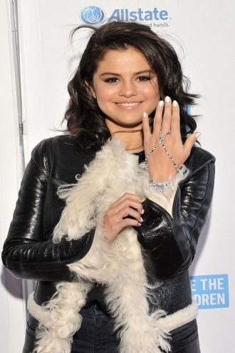 Selena Gomez Stylish Fur Coat