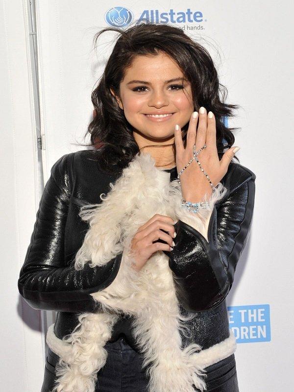 Selena Gomez Stylish Fur Coat