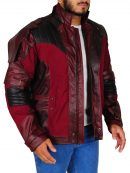 Star Lord Cosplay Maroon Leather Jacket