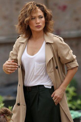 Jennifer Lopez Street Style Coat