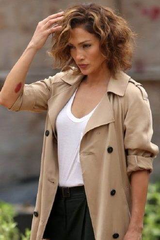 Jennifer Lopez Street Style Trench Coat