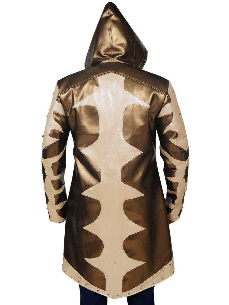 Goldust Golden Hoodie Leather Coat
