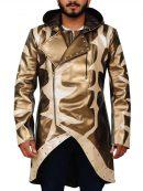 WWE Goldust Golden Hoodie Leather Coat