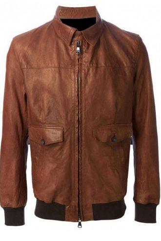 American Horror Story Hotel John Lowe Brown Leather Jacket