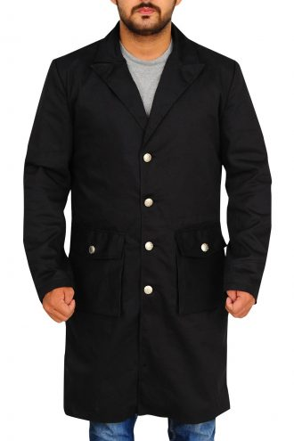 Anson Mount Hell on Wheels Stylish Black Coat