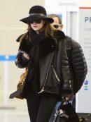 Dakota Johnson Shearling Black Jacket
