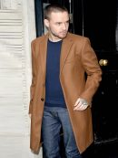 Liam Payne Street Fashion Brown Trench Coat